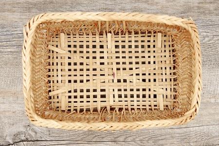 breadbasket: A studio photo of a cane basket