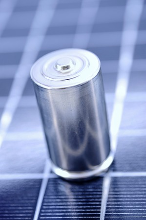 A studio photo close up of a battery