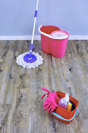 A studio photo of a cleaning mop