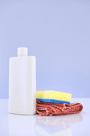 dishwashing: A close up studio photo of dishwashing detergent