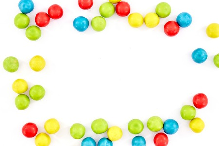 automatically: A studio photo of a gum ball candy