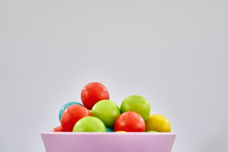 A studio photo of a gum ball candy