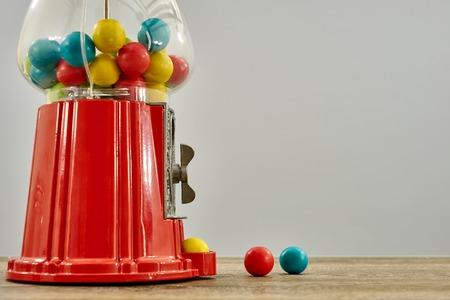 automatically: A studio photo of a vintage gum ball machine