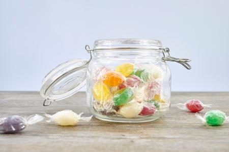 fruit drop: A studio photo of fruit drop candies Stock Photo
