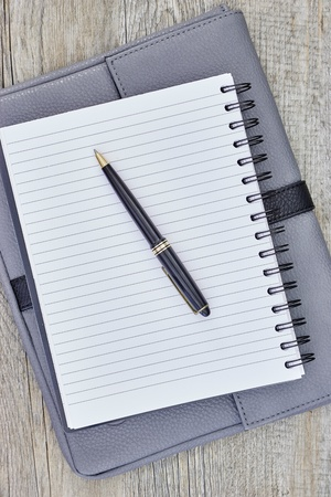 writing pad: A close up shot of a notebook writing pad