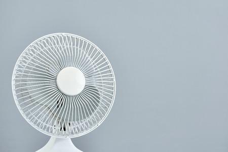 oscillation: A studio photo of a portable electric fan Stock Photo