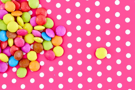 A studio photo of candy coated chocolate Stock Photo