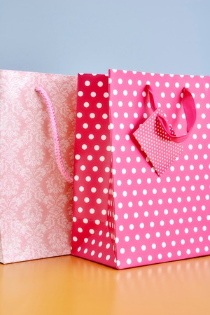 A studio photo of shopping bags