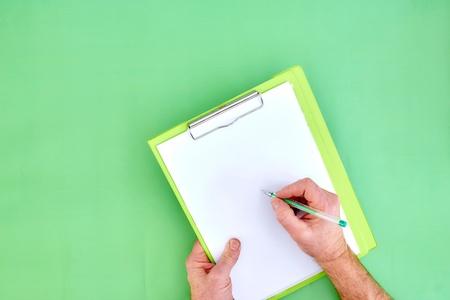 A studio photo of an office binder clipboard