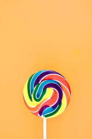 lolli: A studio photo of a candy swirl lollypop