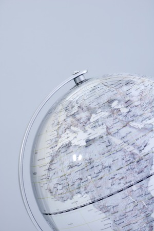 A stock photo of a world globe map