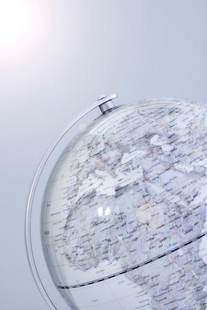 brasilia: A stock photo of a world globe map