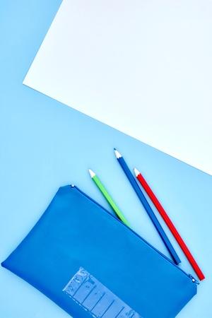A studio shot of a pencil case up close