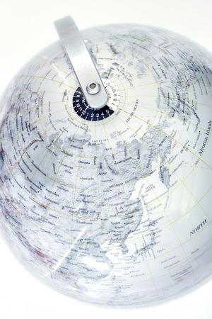 Una fotografía de stock de un mapa del mundo mundo