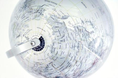 mainland: A stock photo of a world globe map
