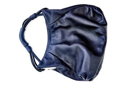 A studio photo of a ladies black hand bag Stock Photo