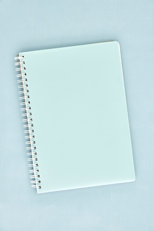 notebook cover: A close up shot of a notebook writing pad