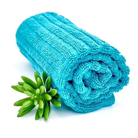 A studio photo of a spa face towel