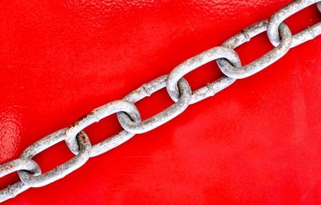 A studio photo of a metal chain Stock Photo