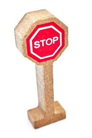 sign post: A studio photo of toy road signs