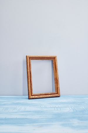 one sheet: A studio photo of a photo frame
