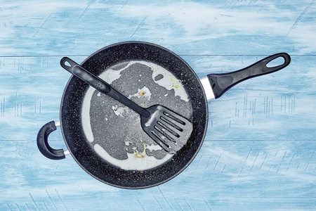 A studio photo of a frying pan
