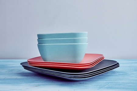 A studio photo of modern dinnerware