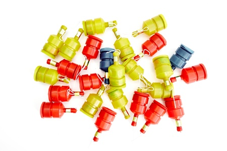 poppers: A studio photo of party poppers
