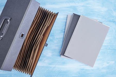 A studio photo of a expantion filing box