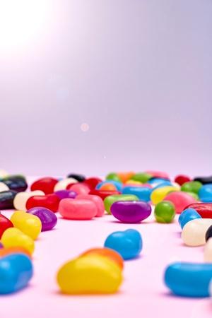 Un estudio de la foto de caramelos de goma Foto de archivo