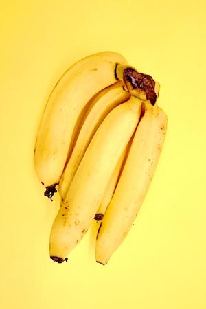 A studio photo of yellow bananas Stock Photo