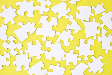 A studio photo of jigsaw pieces Stock Photo
