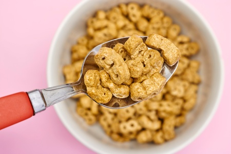 A studio photo of breakfast cereal