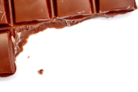 A studio photo of a block of chocolate Stock Photo