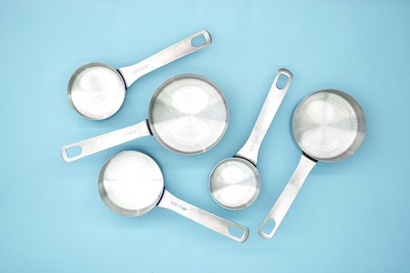 A studio photo of measuring cups Stock Photo