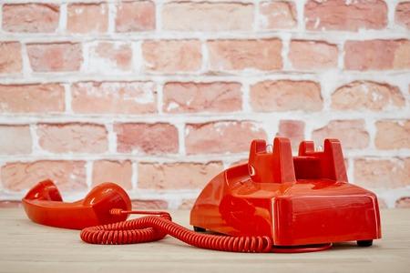 A studio photo of a rotary telephone Stock Photo