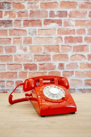 A studio photo of a rotary telephone Stock Photo