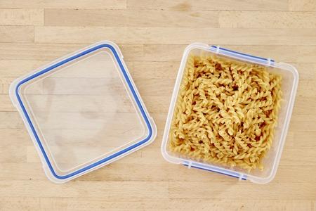 A studio photo of dry pasta noodles Stockfoto