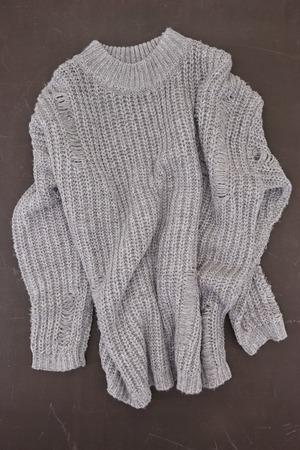 A studio photo of a woolen jumper Stock Photo