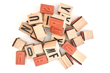 A studio photo alphabet letters Stock Photo