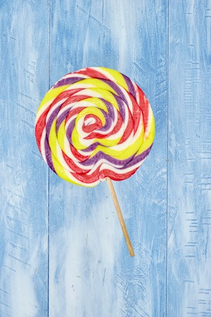 A studio photo of a lollipop
