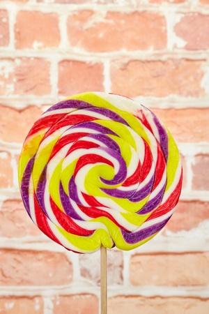 A studio photo of a lollipop