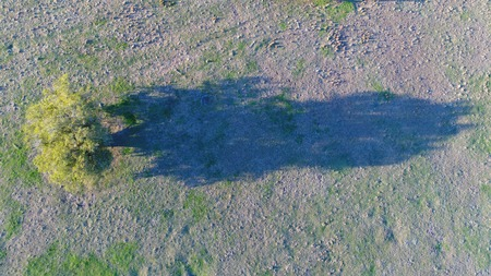 Aerial drone photo of a rural setting