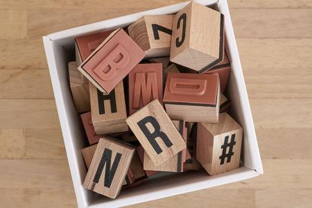 A studio photo alphabet letters Archivio Fotografico