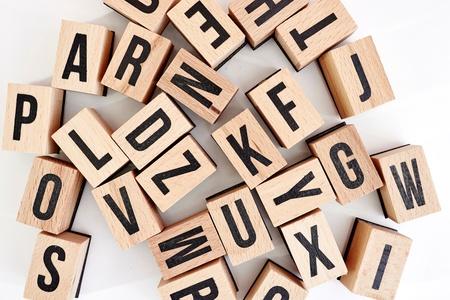 A studio photo alphabet letters Stock Photo