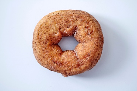 A studio photo of donuts