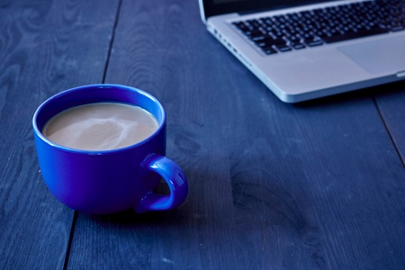 A studio close up of a cup of coffee Stock Photo