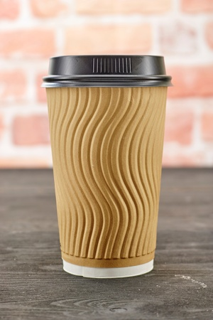A studio photo of a takeaway coffee cup Stock Photo