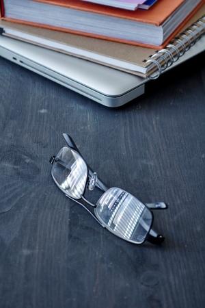 A studio photo of reading glasses Stock Photo