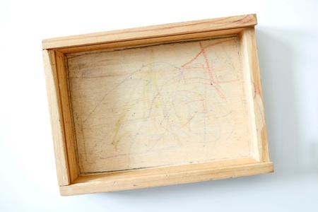 A studio photo of a wooden starage box